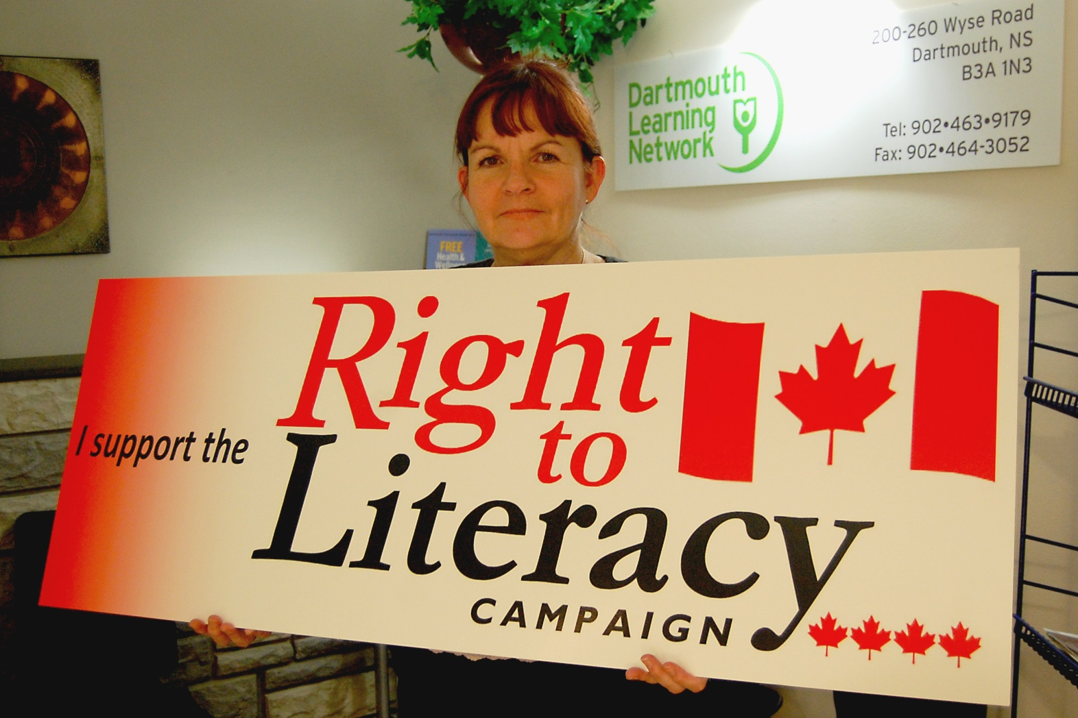 A Nova Scotia Champion for Literacy by Sarah Dobson Dartmouth Learning Network Volunteer