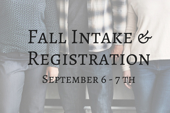 Fall Intake & Registration