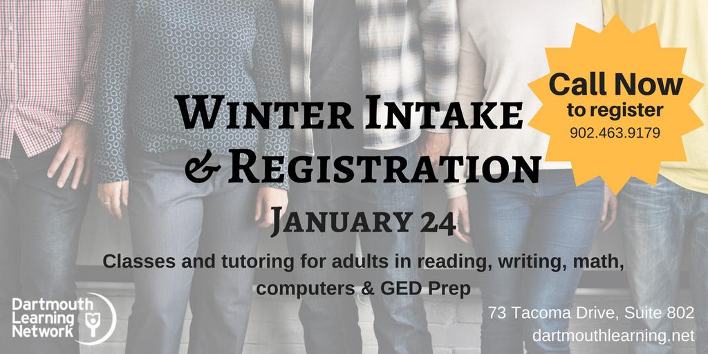 Winter Intake & Registration – January 24, 2018
