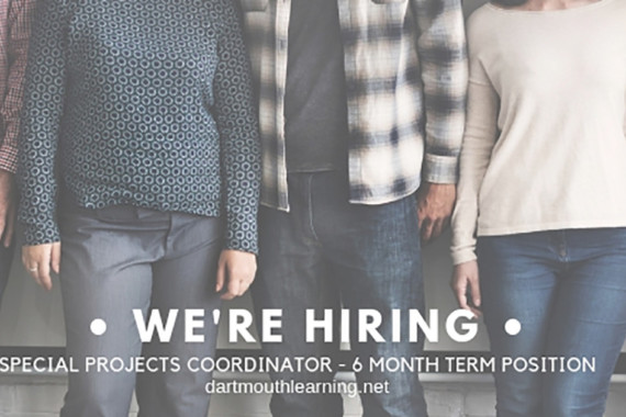 We're Hiring – Special Projects Coordinator