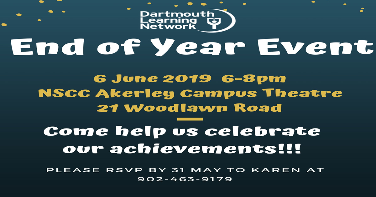 End of Year Celebration – Thursday, June 6th, 2019