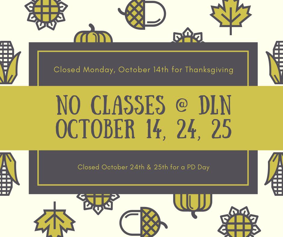 Closure dates in October