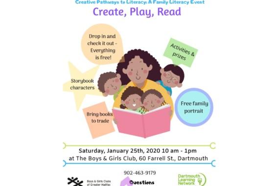 Family Literacy Day – Saturday, Jan. 25, 2020