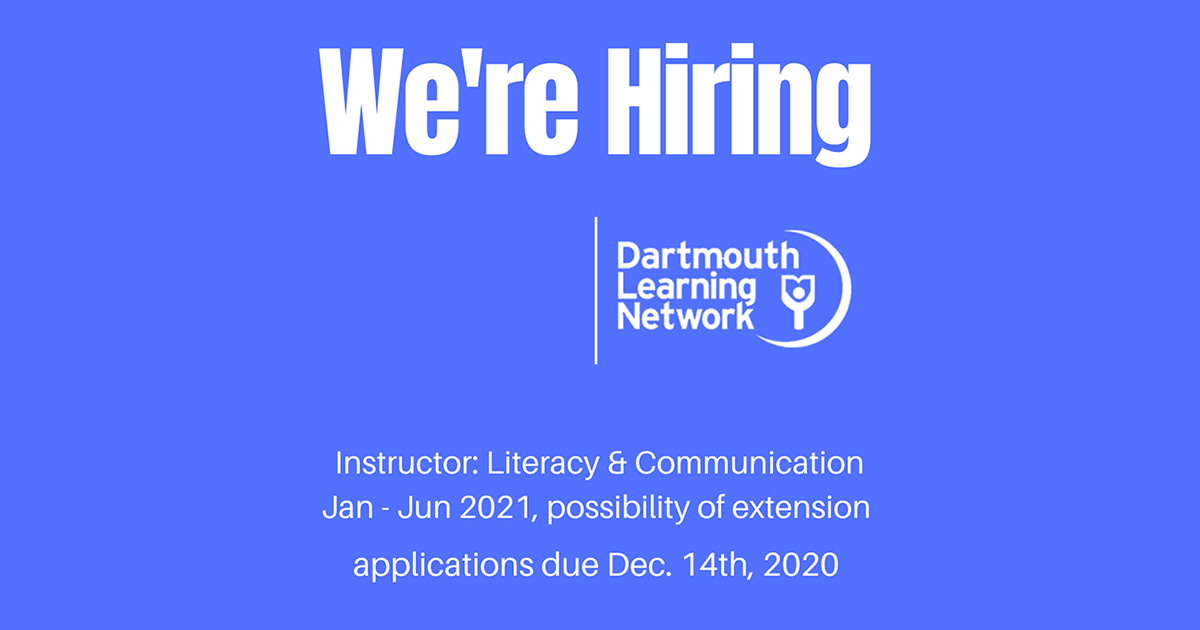 Seeking educator with training/experience in literacy development/remedial literacy